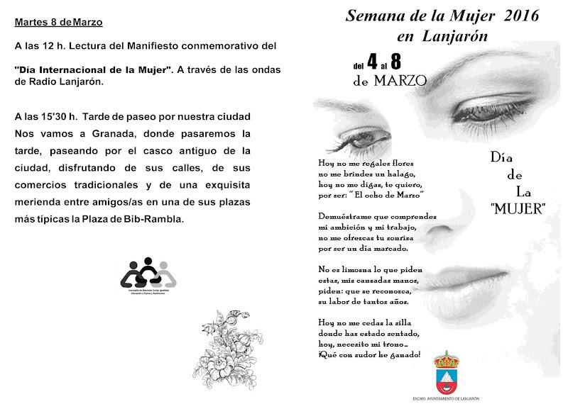 Semana de la Mujer 2016 en Lanjarón
