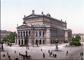 Alte Oper hacia 1900