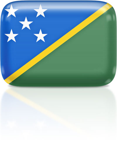 Solomon Island flag clipart rectangular