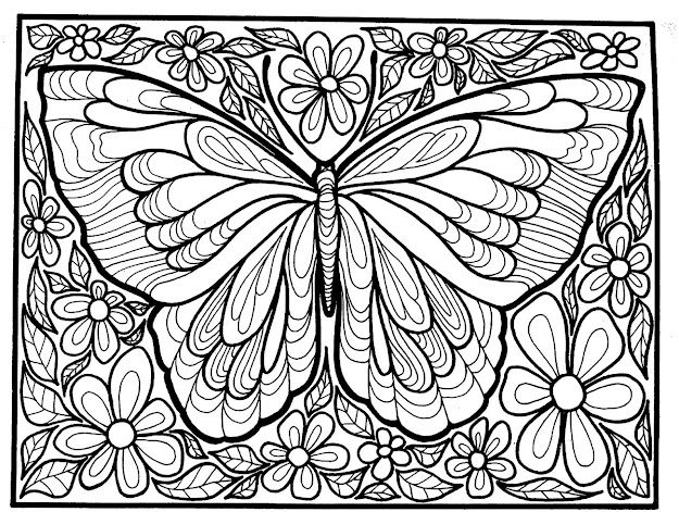 To Print This Free Coloring Page Coloringadultdifficultbigbutterfly