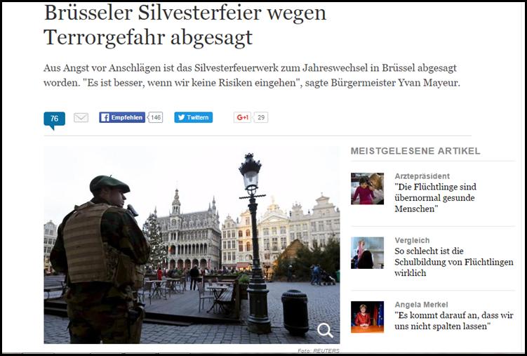 Brüssel sagt Silvesterparty ab