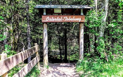 Eingang Ostertaltobel Gunzesried Naturpark Nagelfluhkette Allgäu