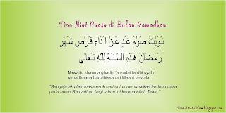 Berpuasa di bulan Ramadhan hendaklah di barengi dengan niat  Doa Niat Puasa di Bulan Ramadhan