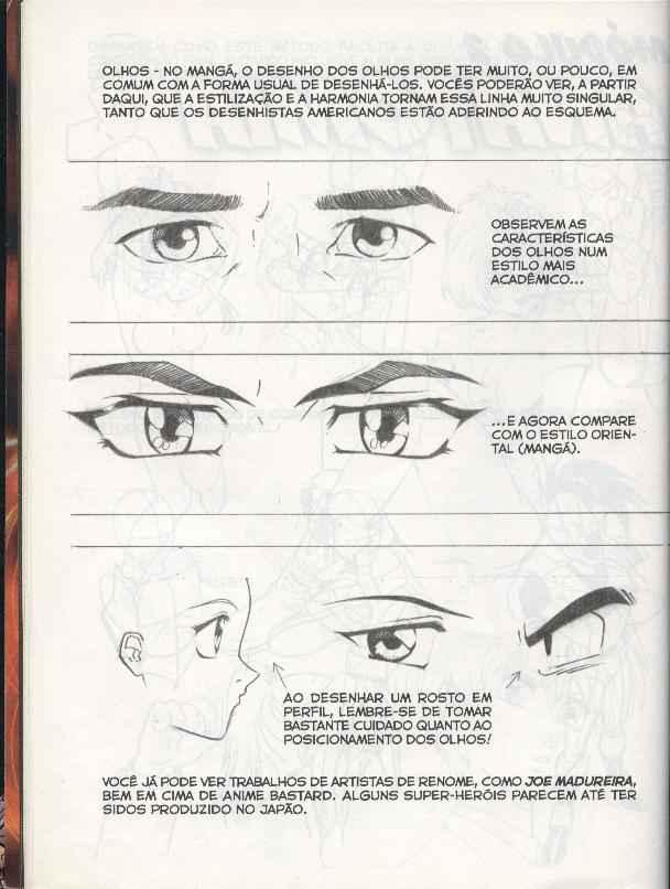 Como Desenhar Olhos Estilo Anime Manga Arte No Papel Online