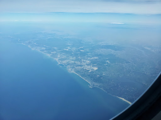 The coastline of Turkey coming into view.  From What's It Really Like to Fly Turkish Airlines Business Class?