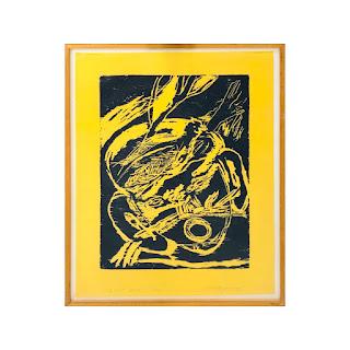 Roberto Juarez Signed Woodblock Print