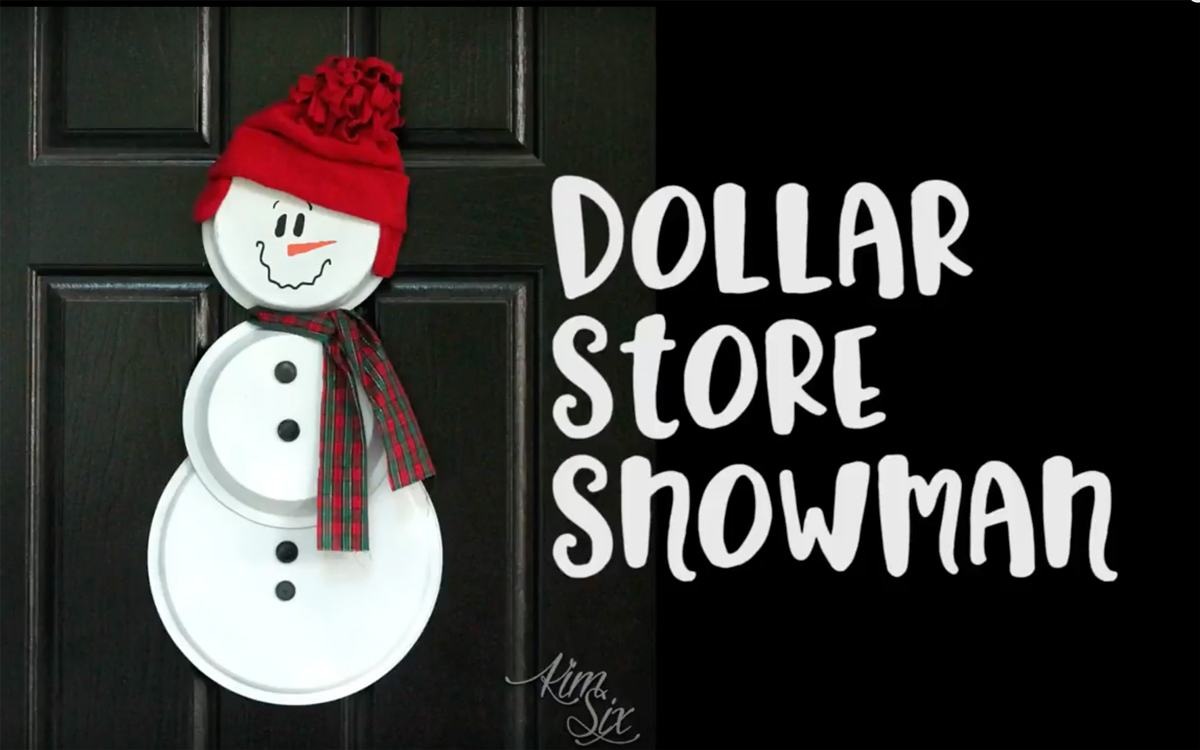 Dollar store snowman