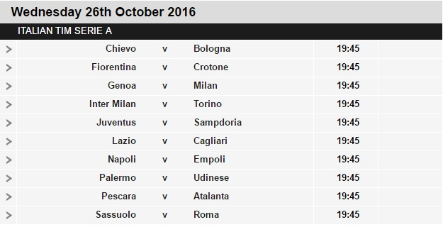 Serie%2BA%2Bschedule%2B10 Planning a Football Trip to Italy - SERIE A FIXTURES 2016/17