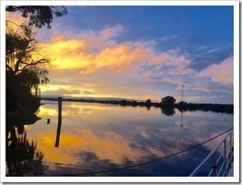 Sunset at the Murray River