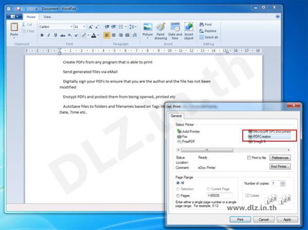 ดาวน์โหลด PDFCreator 2 โหลดโปรแกรม PDFCreator ล่าสุดฟรี