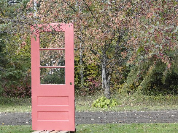 Cottage painted door with Fall colours