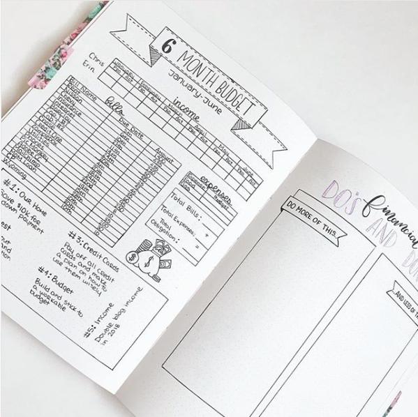 bullet-journal-monthly-bill-tracker