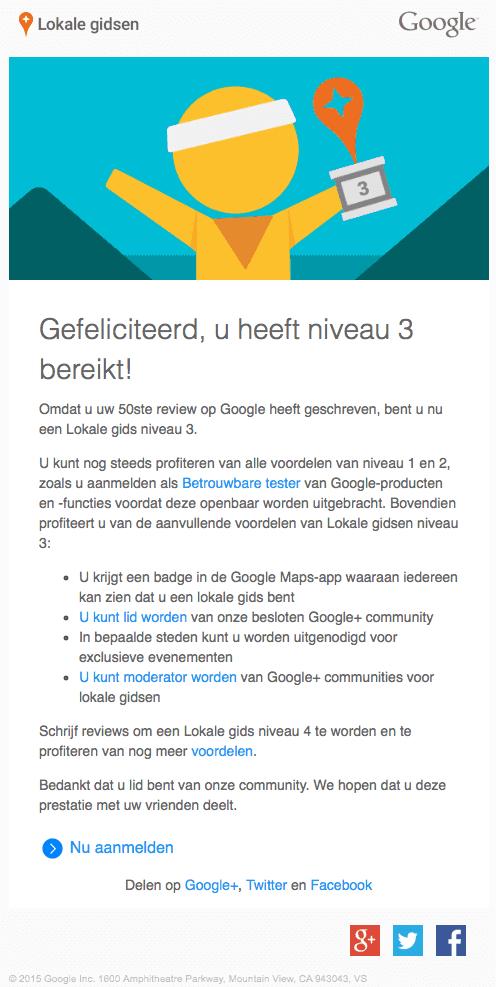 Google Lokale Gidsen Niveau 3