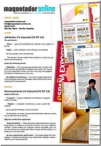 Documento de licencia de la web maquetador-online.net