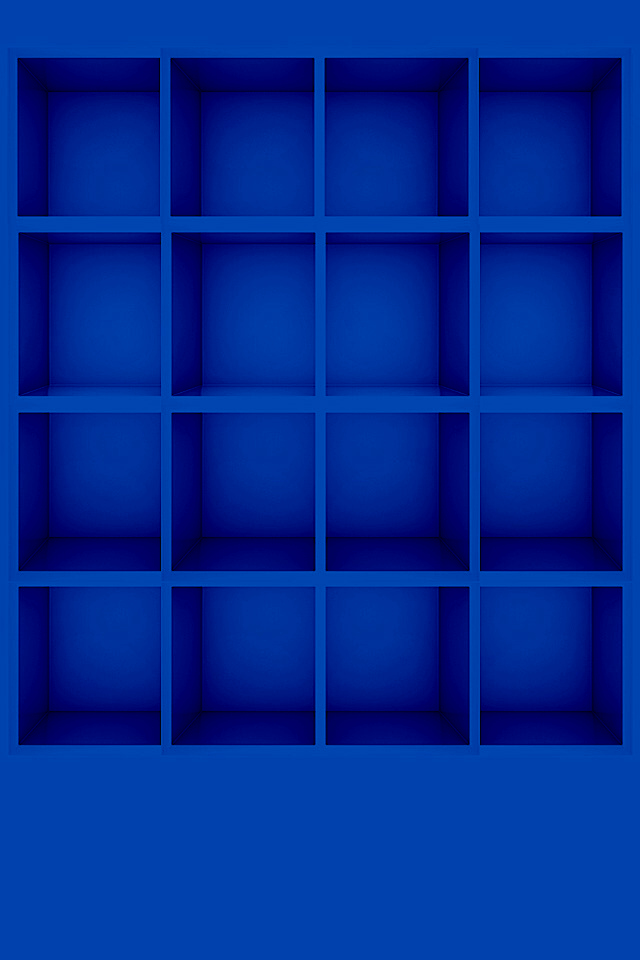 Blue Box Graphics Shelf 3D Wallpapers For iPhone4