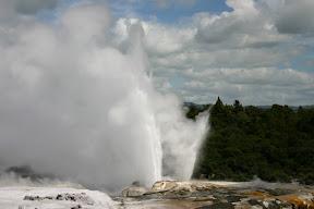 The Tohutu geyser erupts