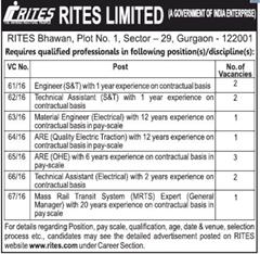 RITES Limited Careers 2016 indgovtjobs