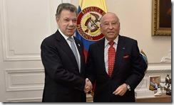 El Presidente Santos se entrevistó con el Presidente del Banco de Desarrollo de América Latina-CAF, Enrique García, quien reafirmó el compromiso financiero de la institución con el proceso de posconflicto y el avance de la paz.