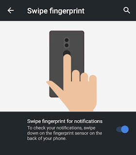 Swipe To Notification using fingerprint