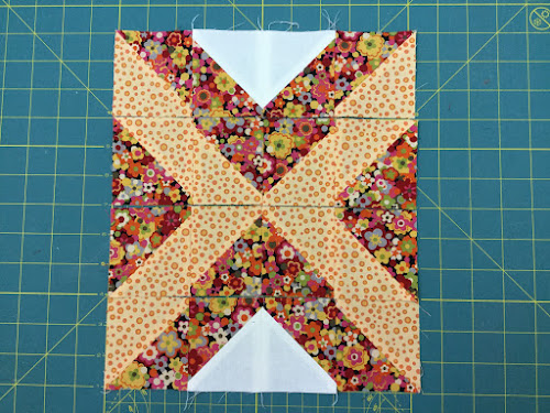 Block 9: 16 HST quilt sampler tutorial