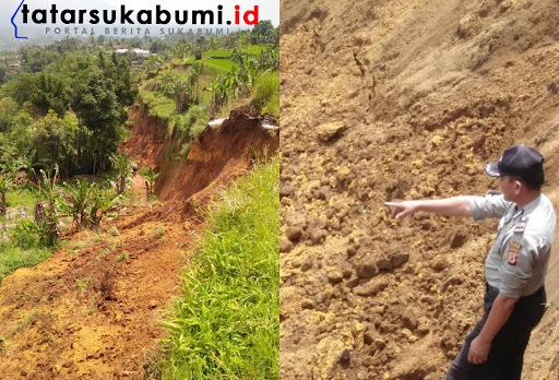 Longsor serta Potensi pergerakan tanah di Kecamatan Kabandungan Sukabumi / Foto : Asep M-Rhe