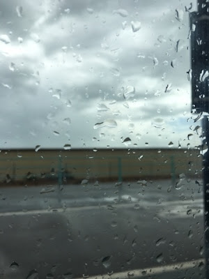 rain seen through a car window