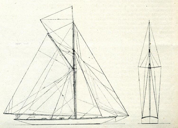 Planos del velamen. De la revista Le journal de la Marine. Le Yacht. 1910.jpg