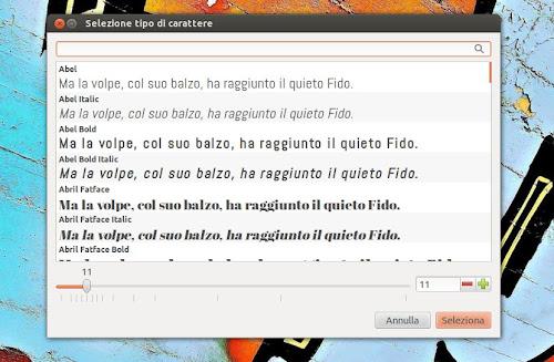 Google Web Fonts su Ubuntu