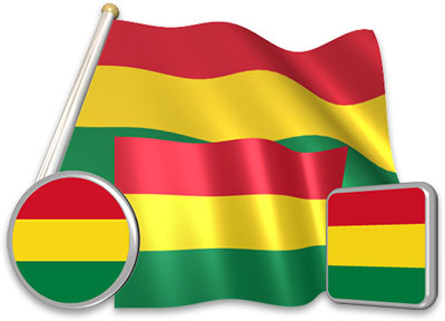 Bolivian flag animated gif collection