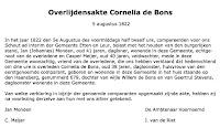 Bons, Cornelia de Overlijden 05-08-1822 Tekst.jpg