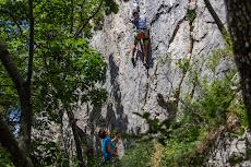 Tanya is climbing in Crni Kal...