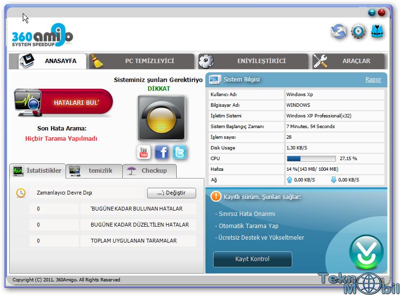 360Amigo System Speedup Pro Full v1.2.1.8200 Türkçe