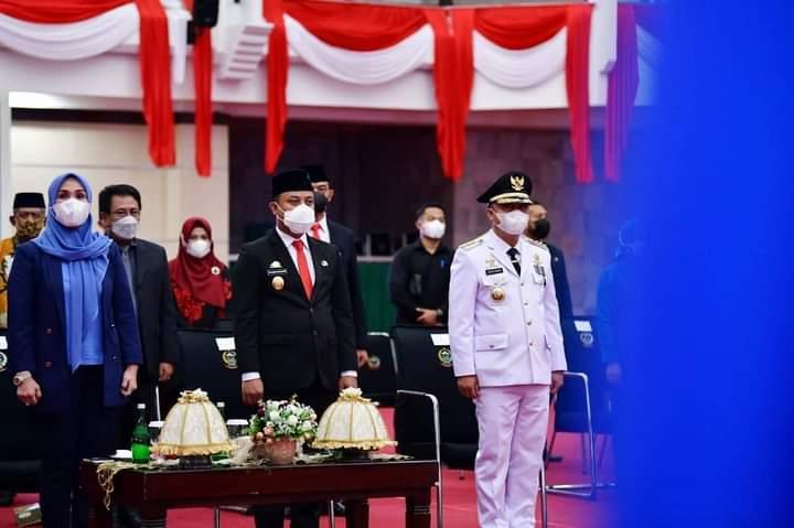 Lantik Bupati Lutim PLT.Gubernur Sulsel Ajak Jalin Hubungan Harmonis Dengan Instansi Vertikal dan Forkopimda