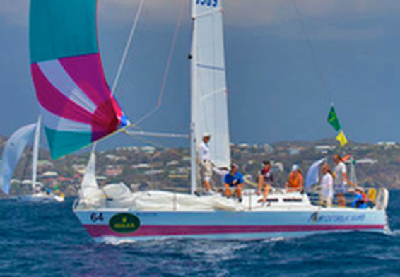 J/30 sailing St Thomas Rolex Regatta