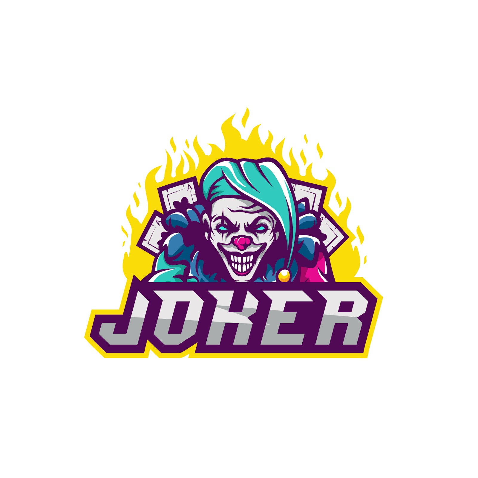 Joker Premium Squad Gaming Free Download Vector CDR, AI, EPS and PNG Formats