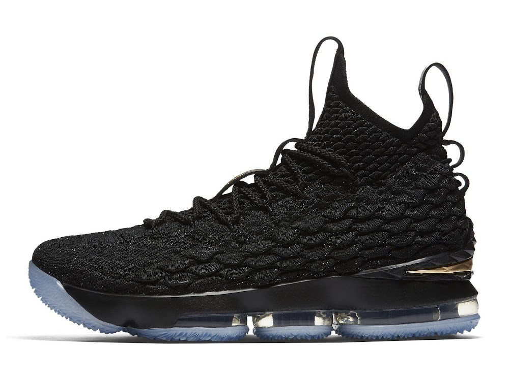 357b2ad697153 Nike LeBron 15 – Black and Metallic Gold – Release Date