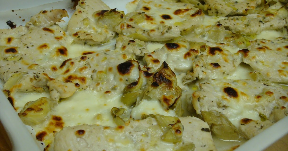 ... cluttered kitchen...: Chicken with Artichoke Hearts and Feta Cheese