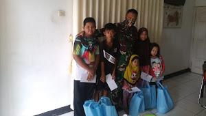Koramil 09/Mauk Pimpinan Kegiatan Bhakti Sosial, Bagikan Sembako ketukang Ojek Dan Santunan Anak Yatim