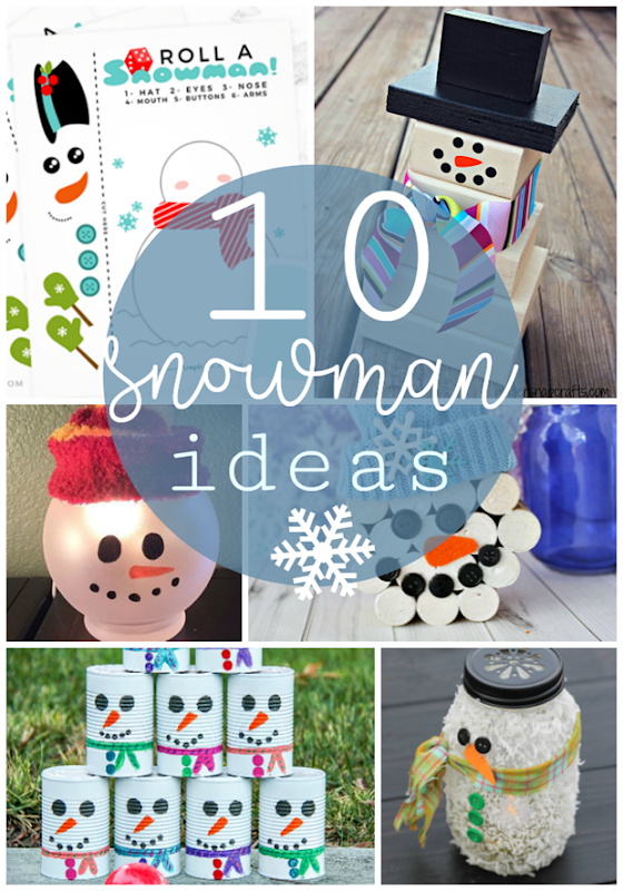 10 Snowman Ideas at GingerSnapCrafts.com #snow #snowman #winter
