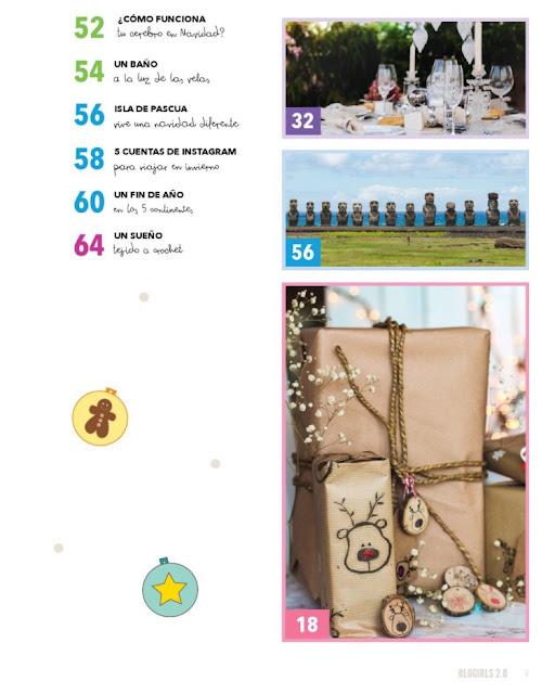 Revista Navidad Blogirls indice