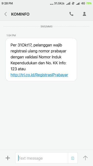 Registrasi kartu seluler  wajib pakai KTP dan KK