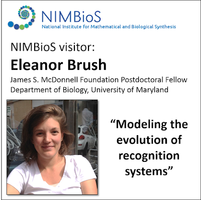 March 2016: Eleanor Brush visited me at NIMBioS to kick off a new project on recognition systems.