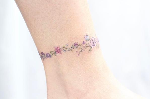este_floral_tornozeleira