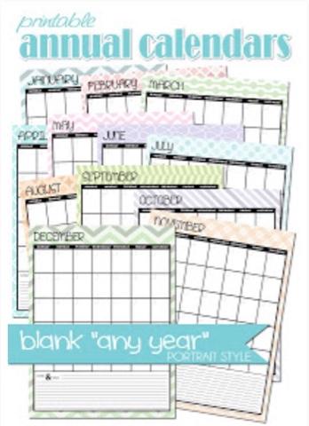 printalbe annual calendars