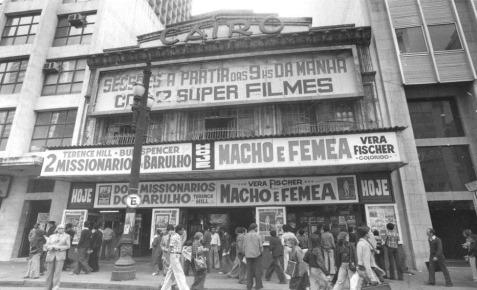 Brasil, São Paulo, SP, 19/07/1977. Fachada do Cine Cairo, na Rua Formosa, região central de São Paulo. Pasta: 17.000
