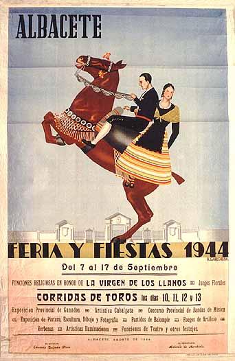 Cartel Feria Albacete 1944