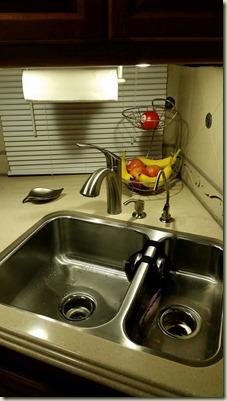 New Faucet, filtered water system, soap dispenser, Paper towel holder