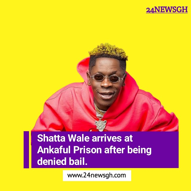 Shatta Wale arrives at Ankaful Prison after being denied bail