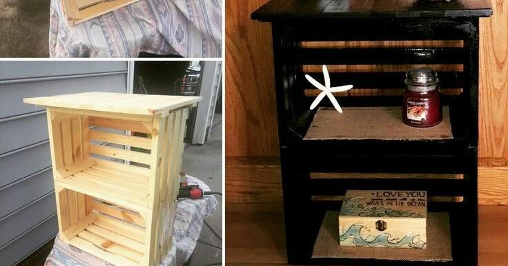 Transforma Las Cajas De Madera En Pequenos Pero Practicos Muebles