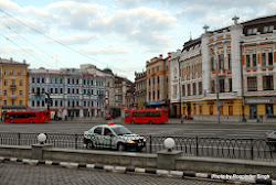 No morning rush as yet on these streets of Kazan